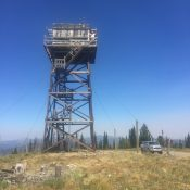 Green Mountain and its tall, nearly abandoned lookout.
