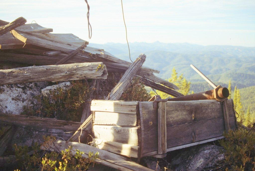Lookout ruins Stolle Peak.