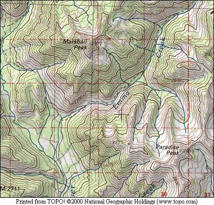 Marshall Peak map