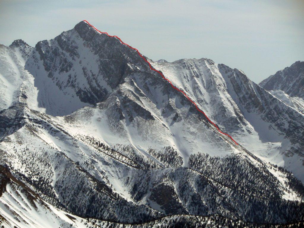 Mount Borah Northwest Ridge route. Photo - John Platt