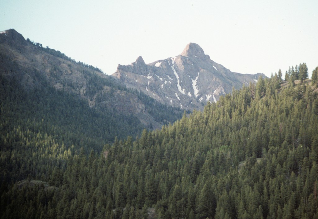 Mystery Peak from North Fork Big Lost Road.