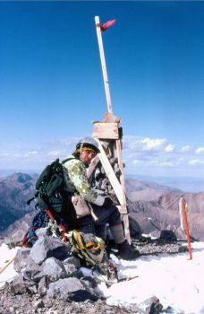 Bob Boyles on the summit. Photo - Mike Weber
