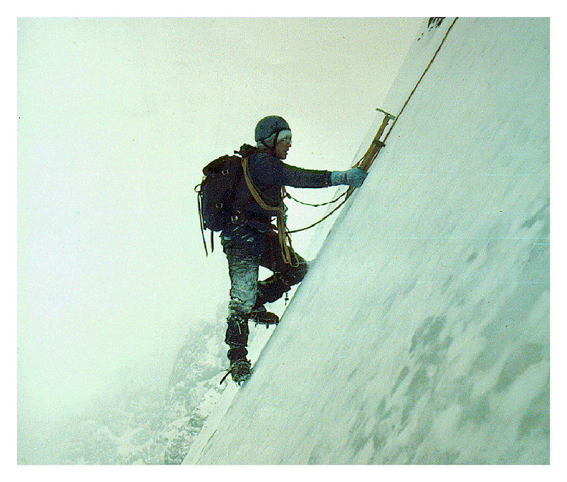 Bob Boyles supplied this photo, the only photo his team took on their winter ascent of the NF in January 1977. Frank Florence Photo