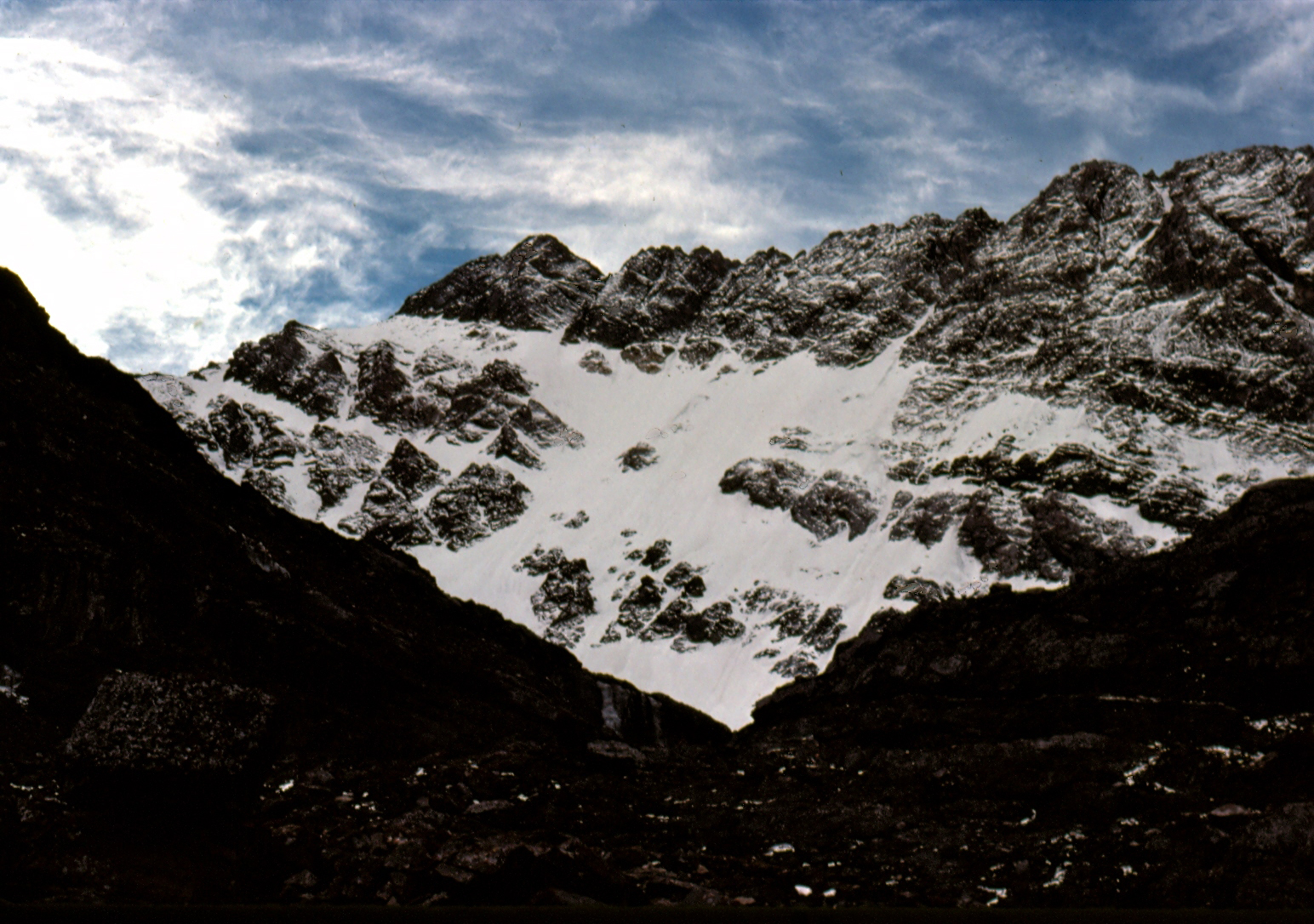 North Face of Mt Borah - Oct, 1976. Photo by Bob Boyles