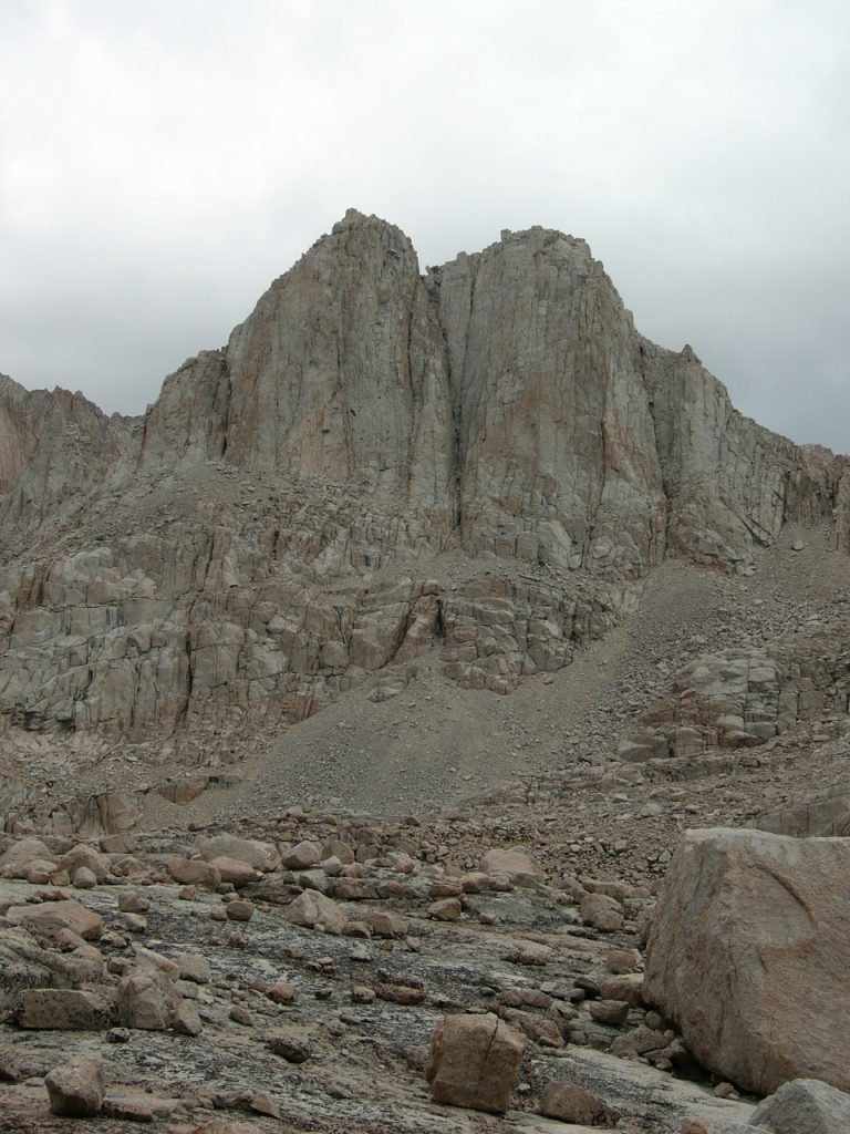 One of the peaks above camp.