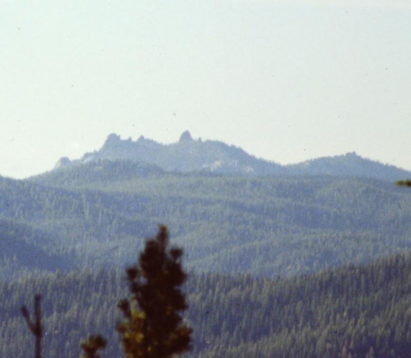 The toward Needles Peak from Stolle Mountain.