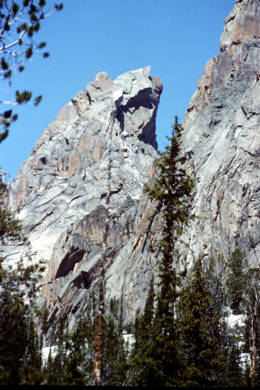 The south face of Warbonnett from Bead Lake.