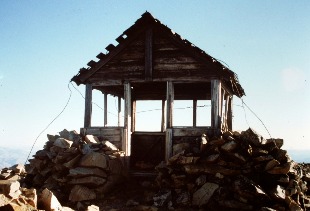 The remains of the Taylor Mountain lookout.