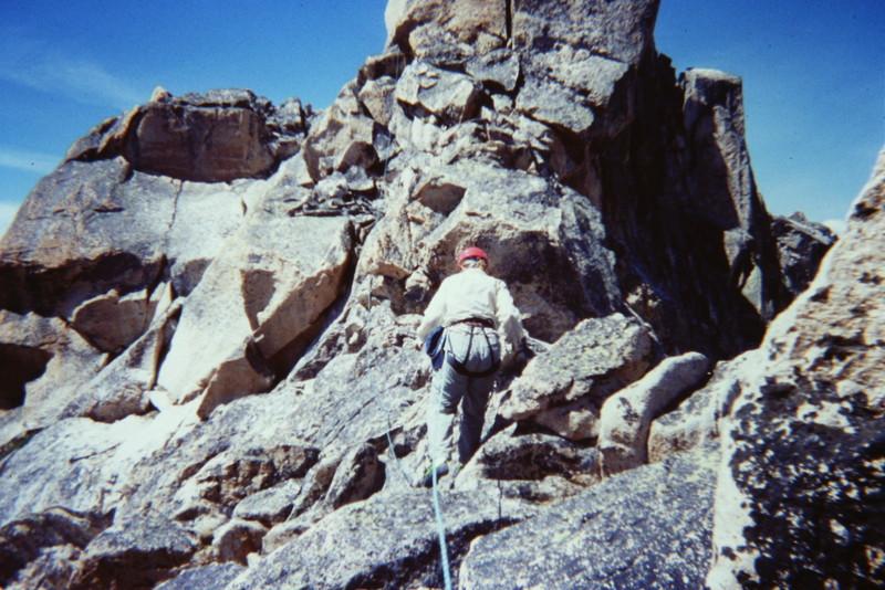Moving toward the summit block.