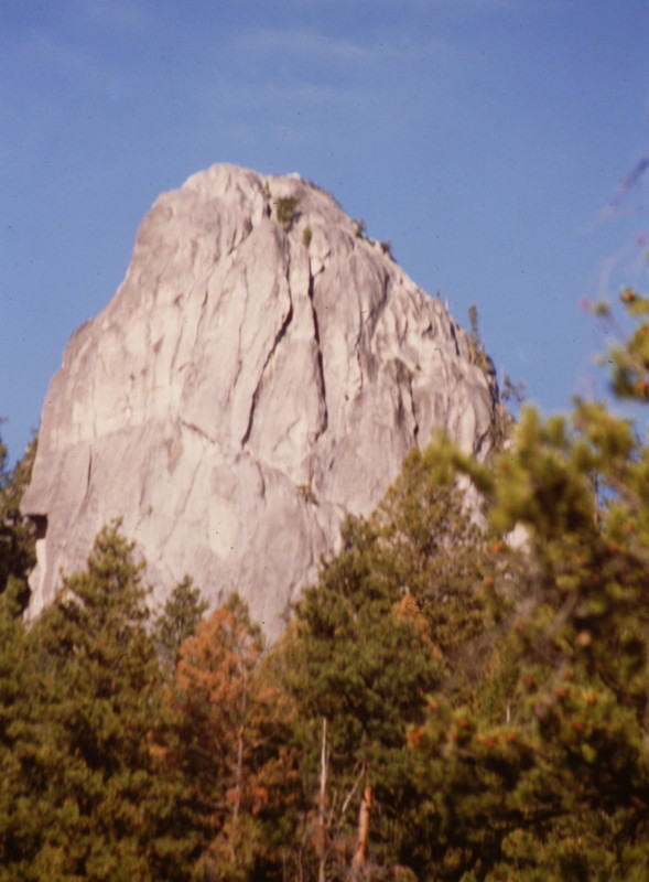 Cougar Rock's east and north faces.