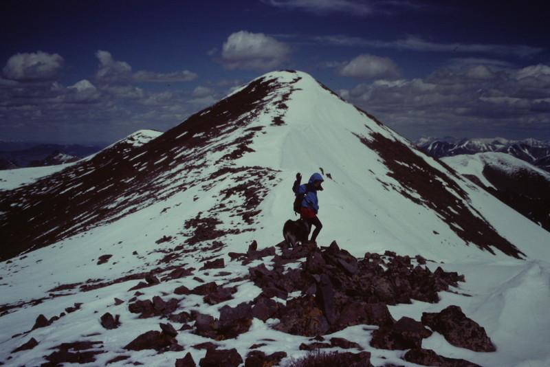 Smiley Mountain's summit ridge.