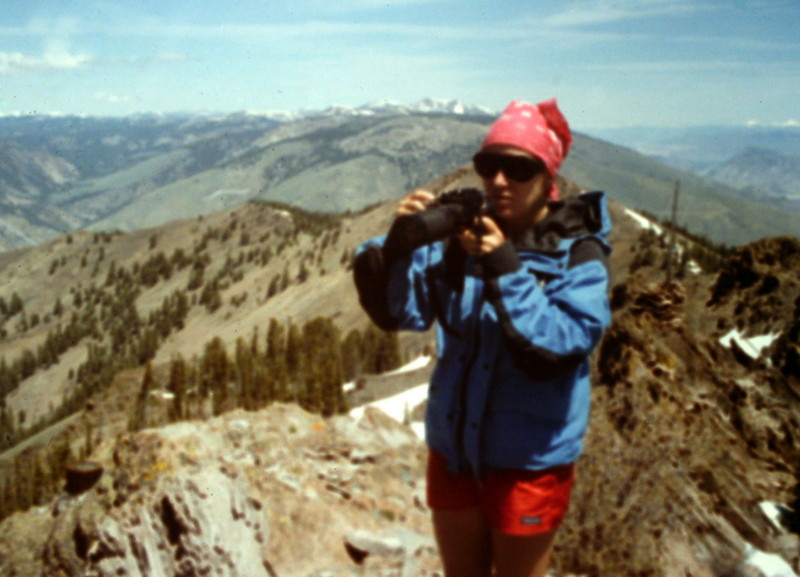 Dana Hansen on the summit.