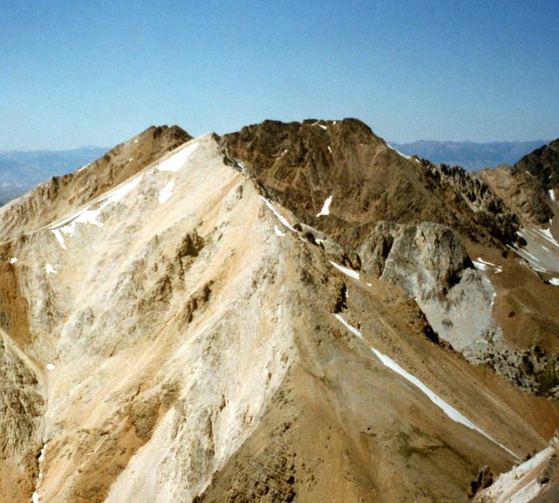 White Cap Peak viewed from Bad Rock Peak.
