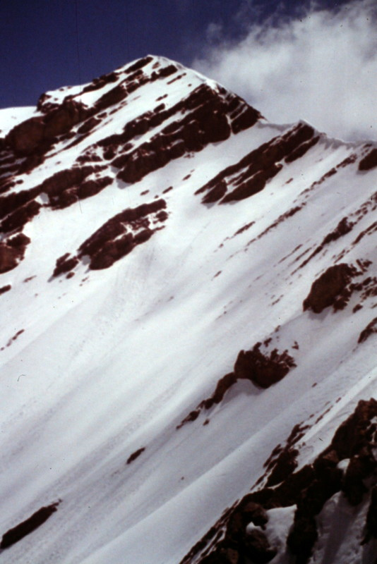 . . . and the last stretch to the summit is a beautiful alpine pyramid when covered in snow.