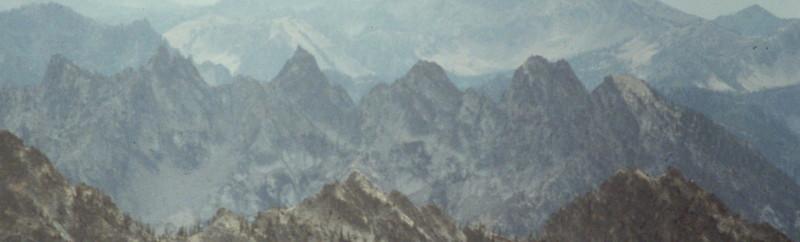 Multi-summited Grandjean Peak from Peak 9820 is a mini mountain range all by itself.