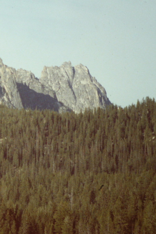 Chockstone Peak from Redfish Lake.