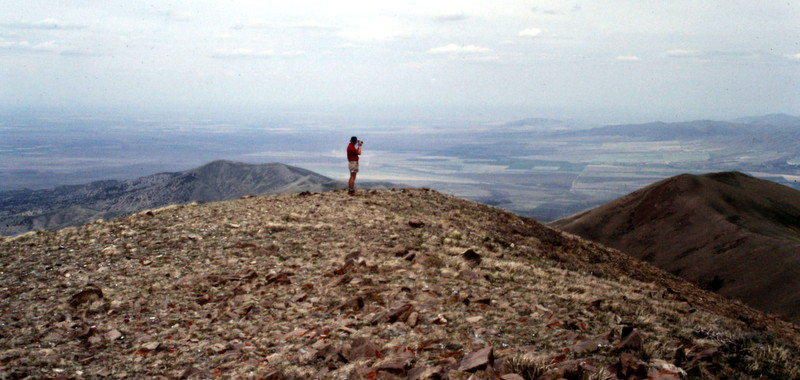 Gary Quigley on the summit of Black Peak.