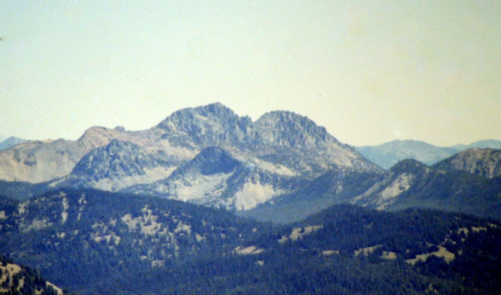 Cabin Creek Peak viewed from Roughneck Peak.