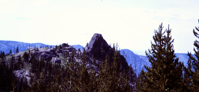 The Devils Tooth from the vicinity of Sheep Lake.