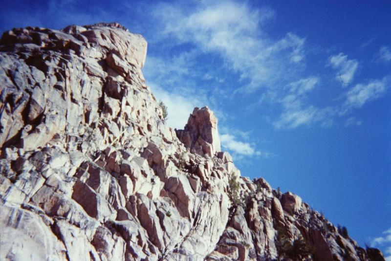 The peak's granite is mostly clean.