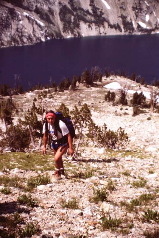 The lower slopes of Alpine Peak offer good footing. As you get higher you will encounter more talus and steeper going.