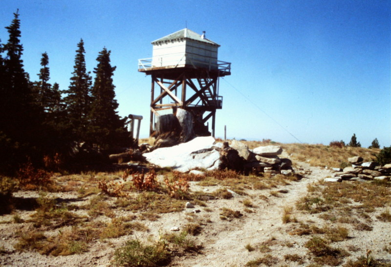 The fire lookout in 1990.