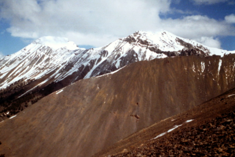 Looking north from the summit of Dickey toward Petros Peak.