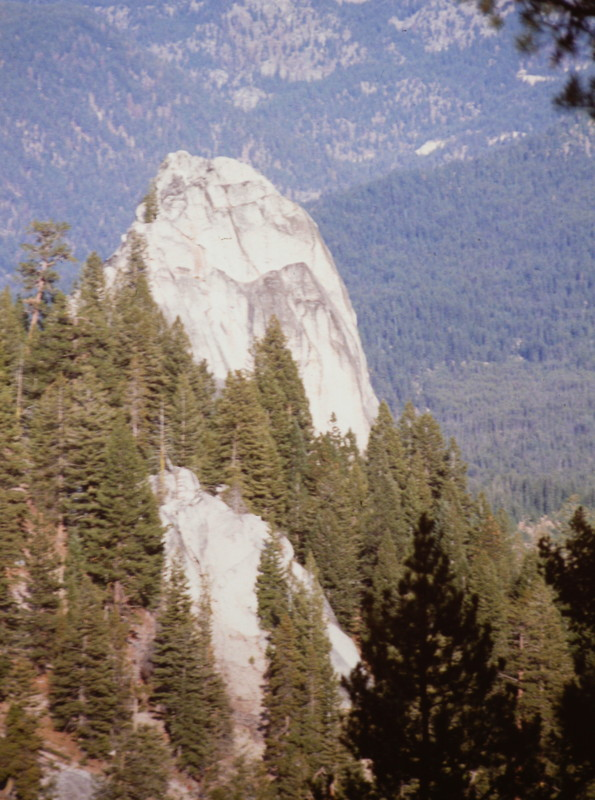 Cougar Rock's south face viewed from the northwest.