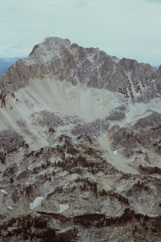 The west face of Willaims Peak viewed from the Summit of Merritt Peak.