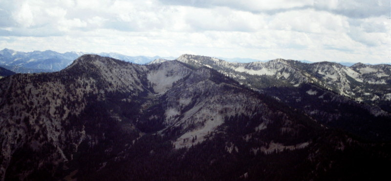 This shot is from Wolf Mountain. The ridge that holds Goat Mountain and North Goat Peak has many areas worth exploring.