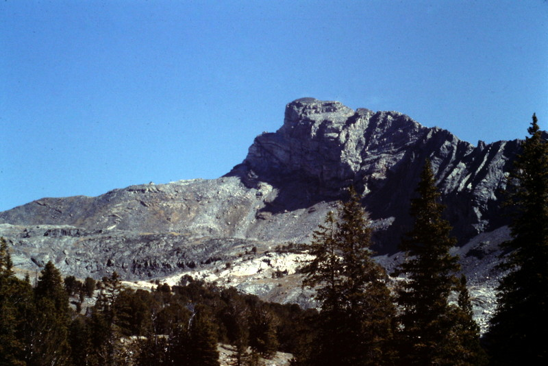 Old Hyndman viewed from the west side approach to Hyndman Peak.