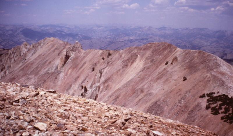 The north summit, Peak 9908, from the true summit.