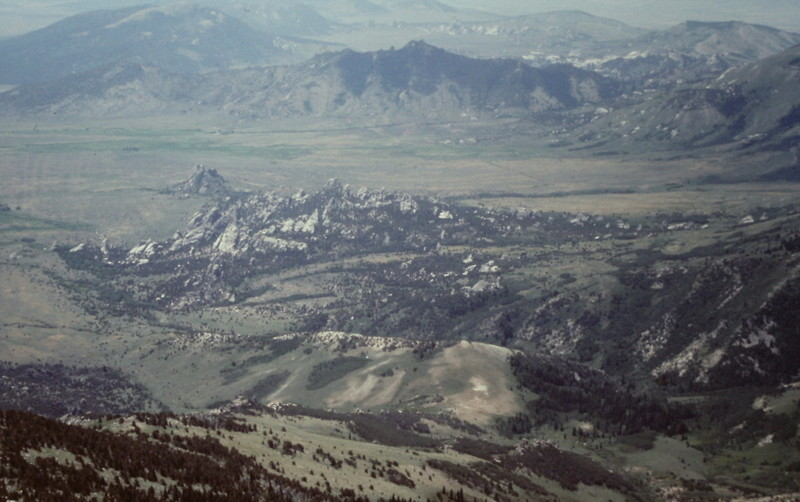 The City of Rocks viewed from the summit of Cache Peak.