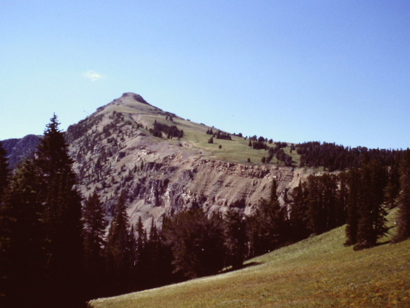 The summit of Targhee Peak from lower down on the east ridge.