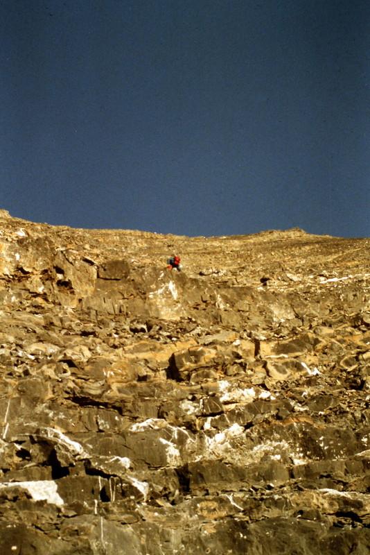 Approaching the ridge crest.