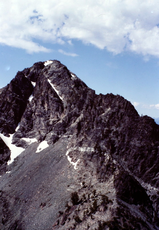 The Devils Throne from the summit of Mount Belial.