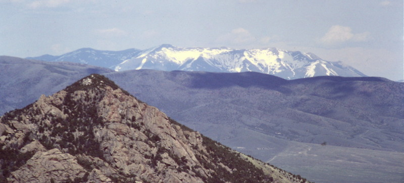 The Black Pine Mountains viewed from the City of Rocks in the Albion Range.