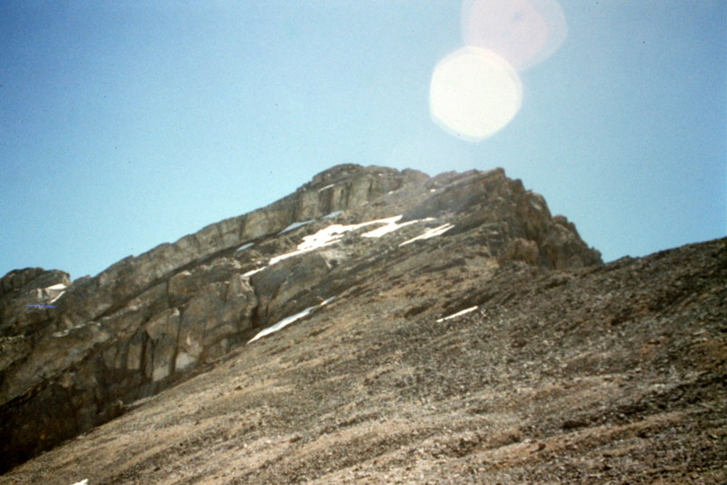 Once you get on top of Bad Rock Peak's north ridge you will see a clear line to the chimney on the summit block.