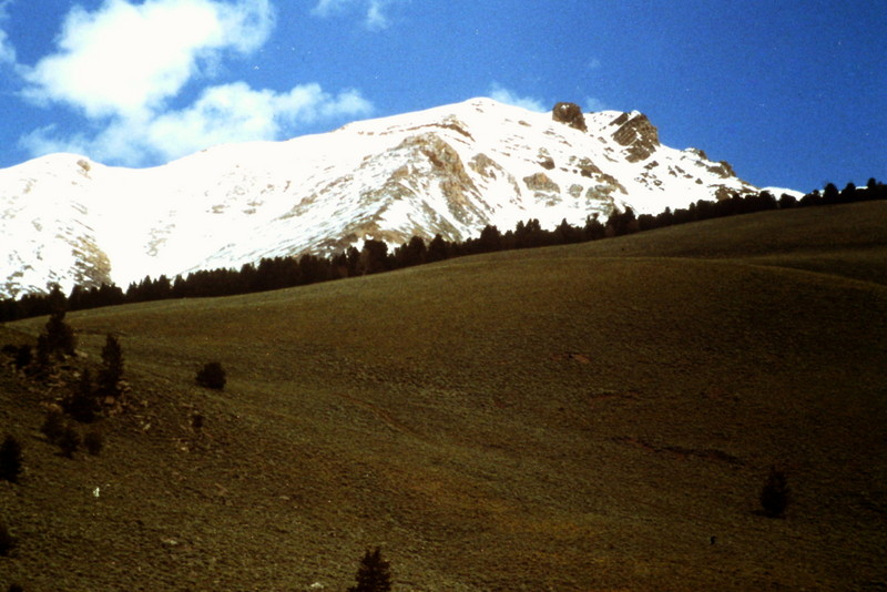 As you climb out of Sawmill Gulch and reach the ridge to the northeast you will get your first view of Peak 11967.