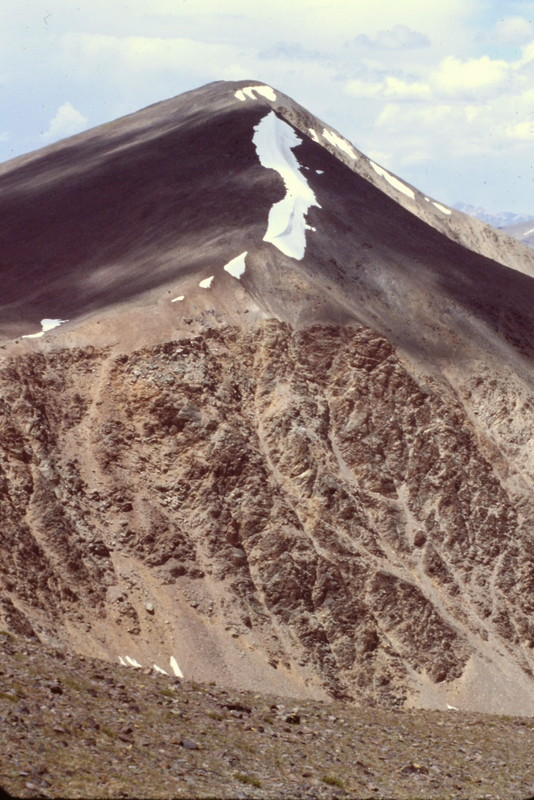 I climbed Big Creek Peak via its north ridge and then descended its south ridge, shown here.