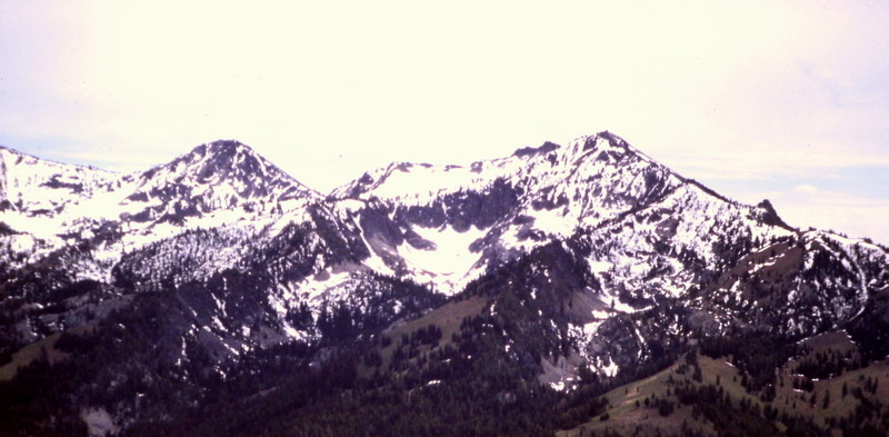 Iron Mountain from Jumbo Mountain in the Boise Mountains.