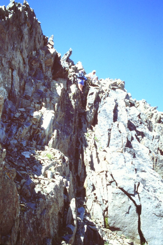 Climb this line to the summit.