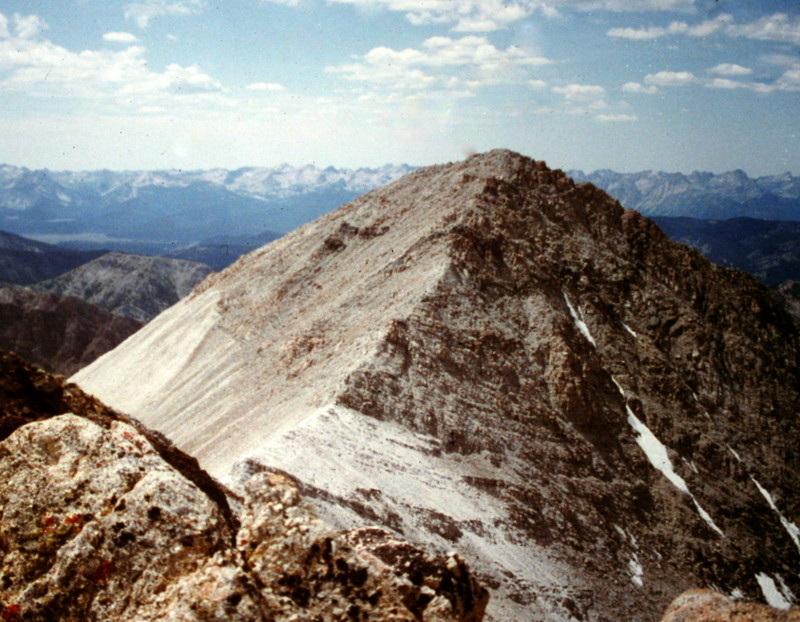 Caulkens west summit viewed from its east summit.