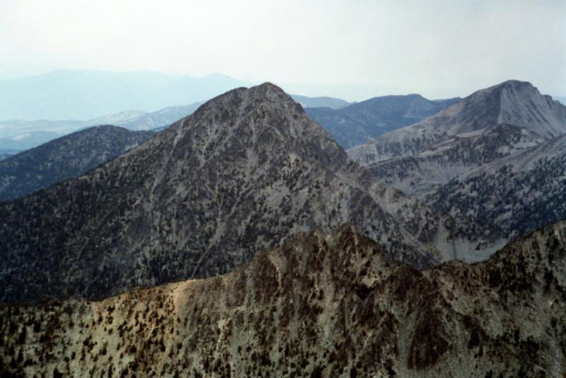 Copperhead Peak from Freeman Peak. Ajax Peak is in the upper right corner.