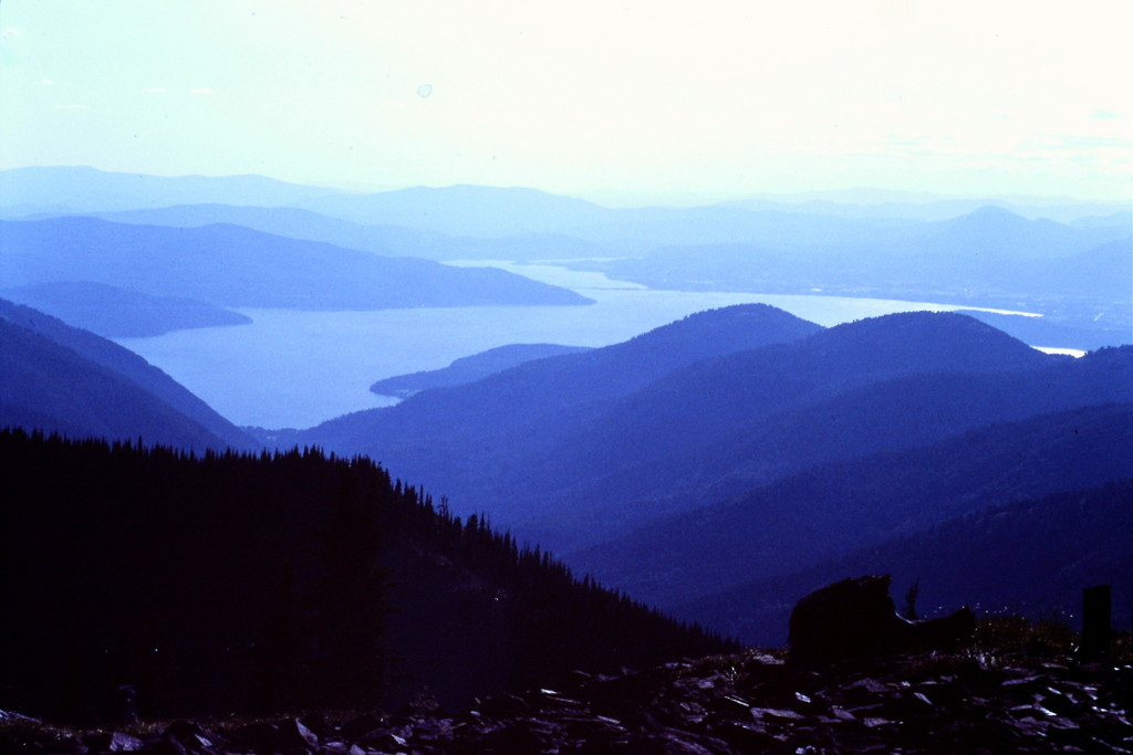 Priest Lake from Mount Roothaan.