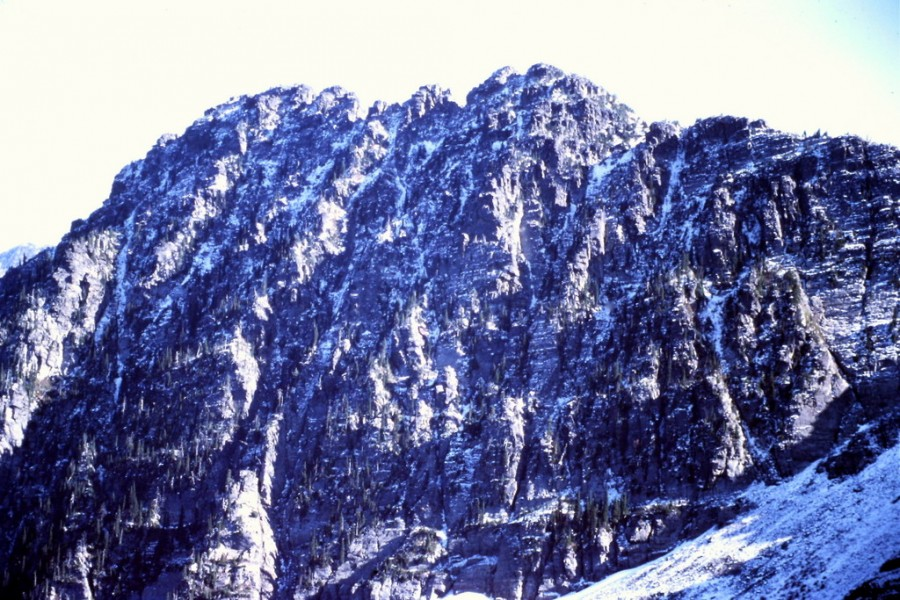 Scotchman Peak's summit block is the most impressive formation in the range.