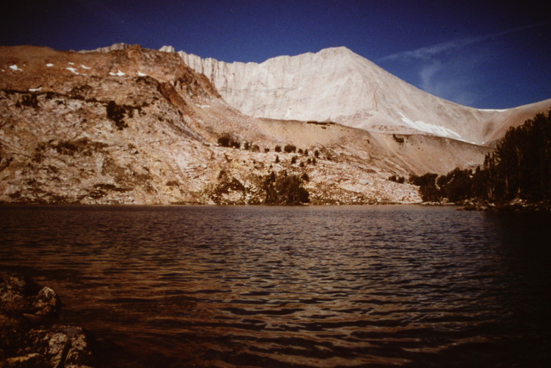 D.O. Lee Peak viewed from Cove Lake.