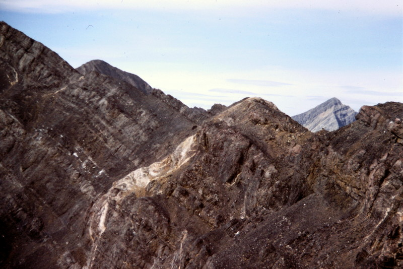 The lower section of the East Ridge as it climbs out from the Church-Donaldson saddle.