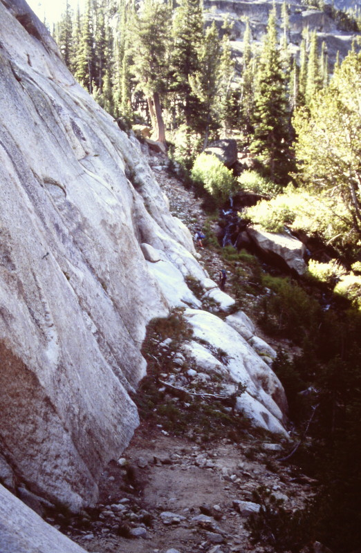 As you work out of the bottom land, use trails can be found that will lead you part of the way to the Saddleback Lakes.