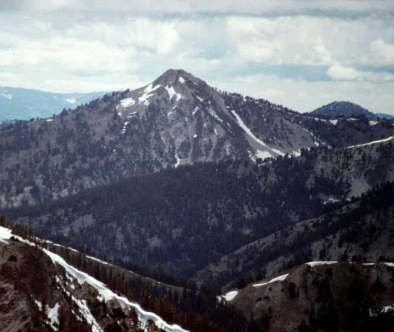 Gunsight Peak from Newman Peak.